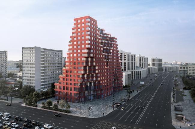 Жилой комплекс RED7 © MVRDV