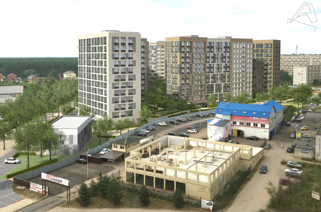 """""""Preobrazhenie"""" residential complex in the village of Mostets © ATOM ag + A-GA"""