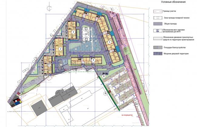Жилой комплекс «Преображение» в деревне Мостец. План первого этажа © АТОМ аг + А-ГА