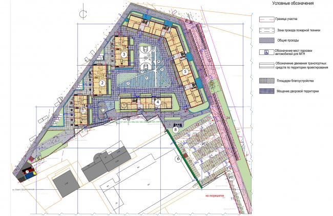 """""""Preobrazhenie"""" residential complex in the village of Mostets. Plan of the 1st floor  © ATOM ag + A-GA"""