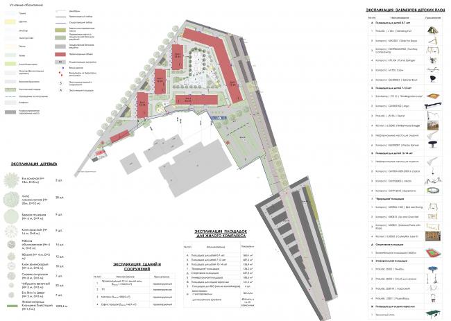Жилой комплекс «Преображение» в деревне Мостец. Генеральный план © АТОМ аг + А-ГА