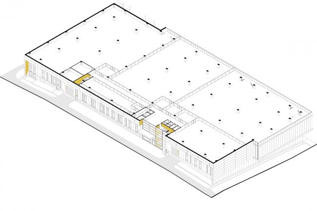 Mosfilm production studio. 3D plan of the second floor © Project bureau APEX