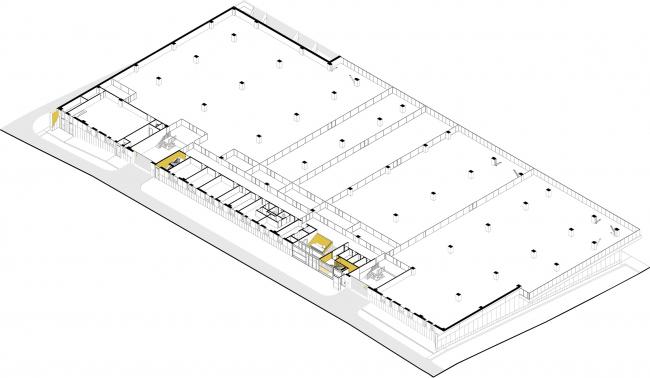 Киноконцерн  «Мосфильм». 3D план первого этажа © Проектное бюро АПЕКС
