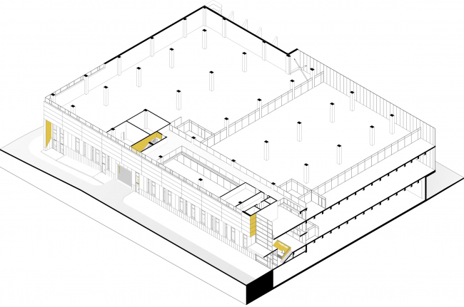 Mosfilm production studio. Cross-section view 1 © Project bureau APEX