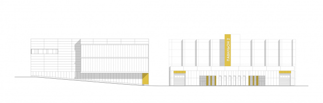 Mosfilm production studio. Facade © Project bureau APEX