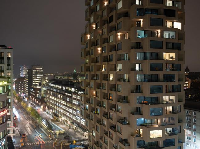 Башни Norra tornen. Башня Innovationen. Фото предоставлено OMA; фотограф: Ossip van Duivenbode