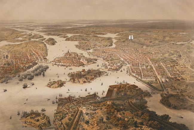 Башни Norra tornen (Вид Стокгольма 1868 года). Изображение © OMA