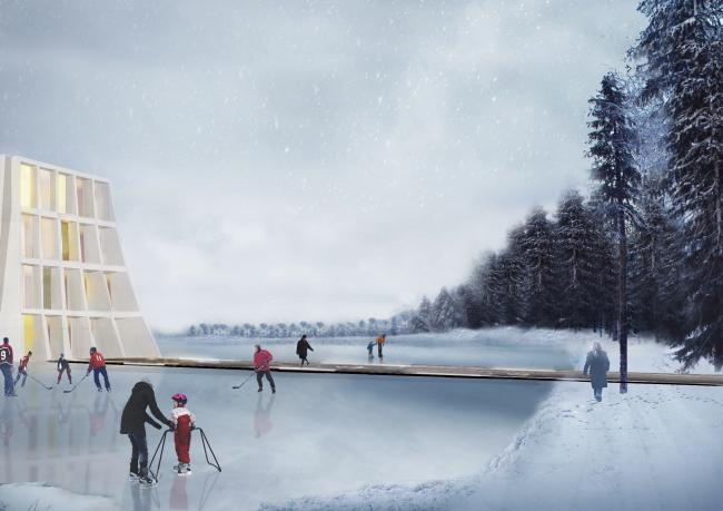 Экорайон в казани, конкурсный проект, 2018 © Консорциум Buromoscow