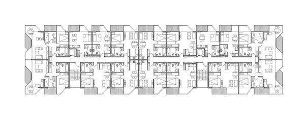 Жилой комплекс «Тетрис». План типового этажа © Ofis