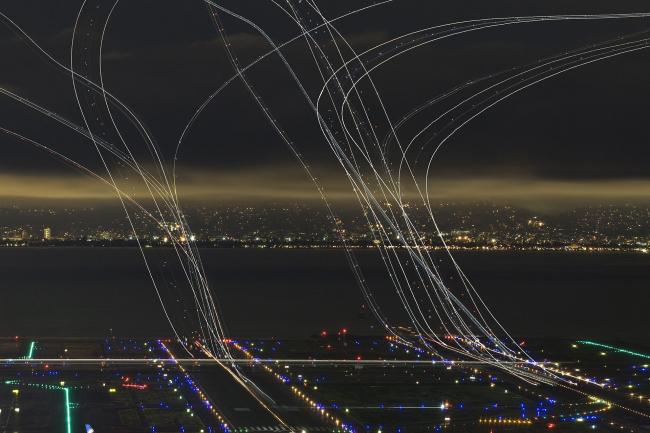 Поощрительная премия SIPA 2018. «Четыре часа воздушного движения» (Сан-Франциско, Калифорния, США) © Гаррет Сари (США) / Garret Suhrie