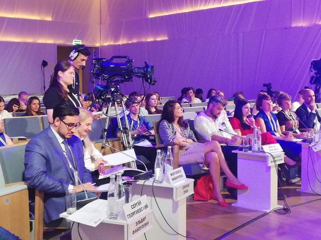 Заседание жюри на MUF Lab 2018. Фотография предоставлена Агентством стратегического развития «ЦЕНТР»