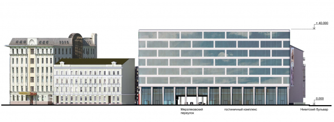 The architectural concept of the Ihouse Hotel © ABV Group