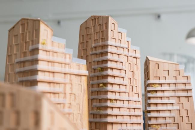 Макет жилого блока будущего. Фотография предоставлено Шухов Лаб