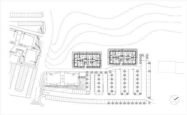 Комплекс социального жилья «Квартиры на берегу». Ситуационный план © Ofis