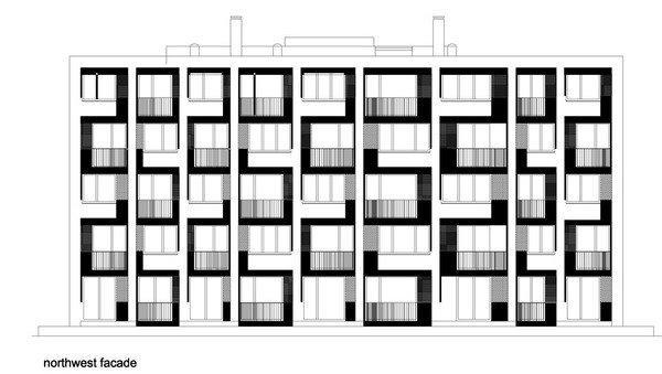 Комплекс социального жилья «Квартиры на берегу». Фасад © Ofis