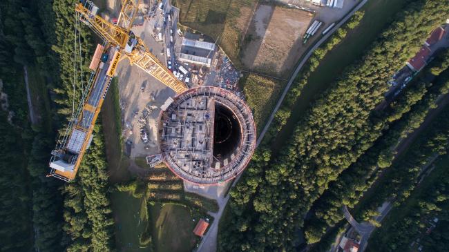 Испытательная башня ThyssenKrupp. Фото © ThyssenKrupp Elevator (CENE)