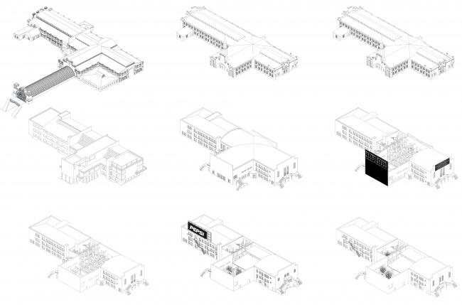 Трансформации здания: история. Штаб-квартира музея «Гараж» в парке Горького © FORM