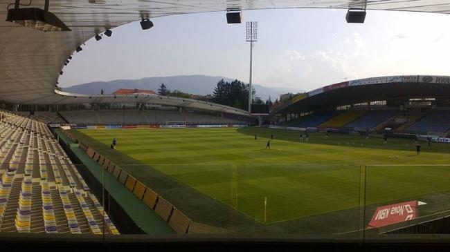Футбольный стадион в Мариборе. Фото: Ratipok via Wikimedia Commons. Лицензия cc-by-3.0