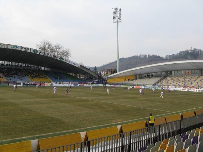 Футбольный стадион в Мариборе. Фото: Alen Ištoković via Wikimedia Commons. Лицензия CC BY 3.0