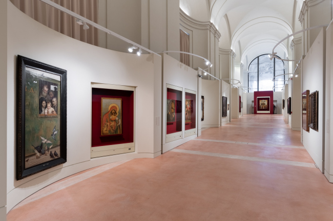 """Pilgrimage of Russian Art. From Dionysius to Malevich"". Vatican, Rome. Exposition design: Sergey Tchoban, Anna Sterligova (Planet 9). Photograph © Vasiliy Bulanov"