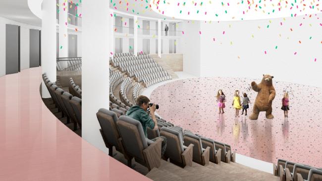 Образовательный центр для одаренных детей «Сириус». Корпус «Искусство». Интерьер концертного зала © Студия 44