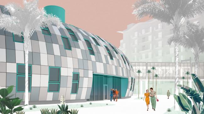 Образовательный центр для одаренных детей «Сириус». Корпус «Школа». Поперечный разрез © Студия 44