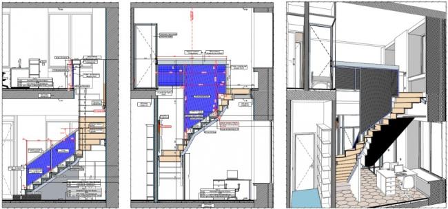 Рисунок 25 – Разрез и 3D документ, выполненные в ARCHICAD