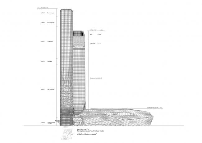 Нанкинский международный юношеский культурный центр © Zaha Hadid Architects