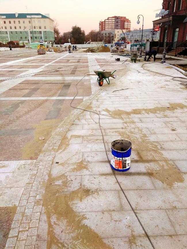 Проект благоустройства площади Ленина в Пензе. Мощение «русла реки Шелоховки»