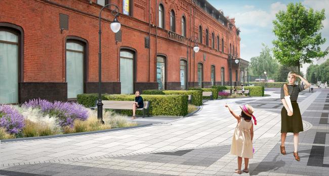 Проект благоустройства площади Ленина в Пензе. Площадь Ленина, мощение «русла реки Шелоховки»