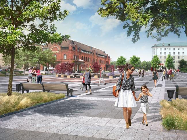 Проект благоустройства площади Ленина в Пензе. Площадь Ленина