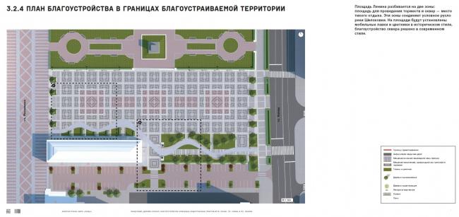 Проект благоустройства площади Ленина в Пензе. Генплан