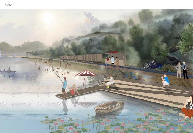 Концепция реконструкции Загородного парка в Самаре. Автор: Валерия Зайцева, Серпухов Московской области