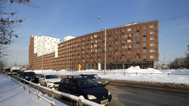 Novokraskovo housing complex. View from the corner of Korenevskoe and Egoryevskoe highways