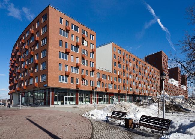 Novokraskovo housing complex. View from the square