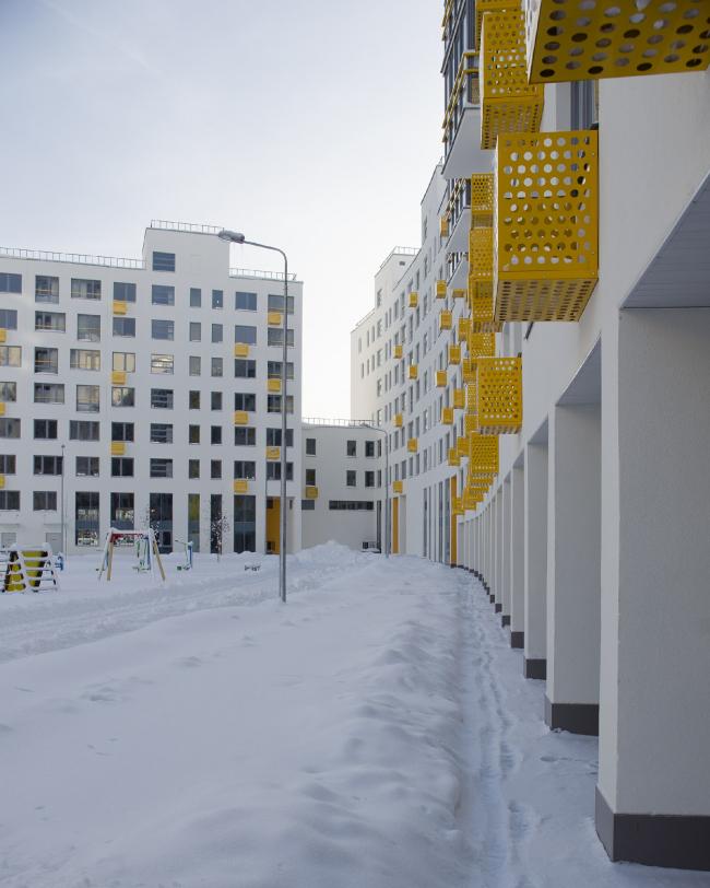 ЖК «Новокрасково». Вид на двор первого квартала © ЖК «Новокрасково»