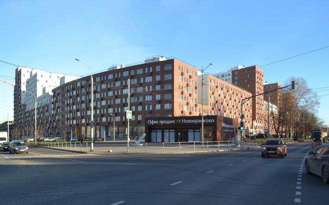 Novokraskovo housing complex. View from the crossing of Korenevskoe and Egoryevskoe highways