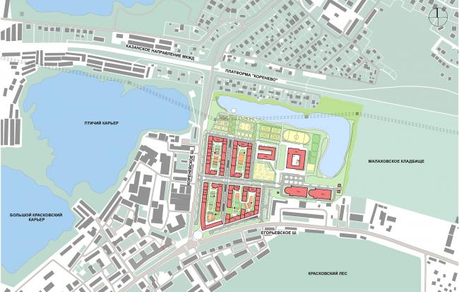 Novokraskovo housing complex. Master plan