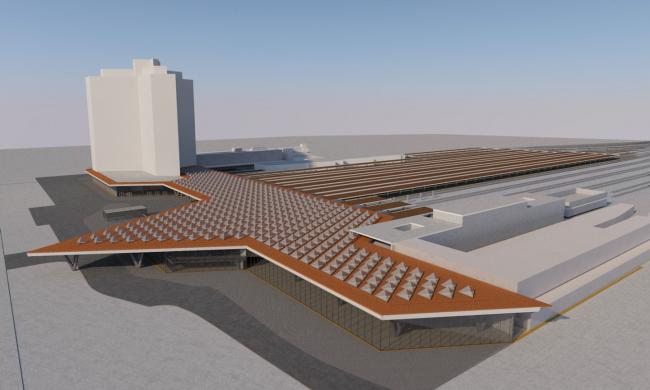 Проект центрального вокзала в Неаполе. Minnucci Associati srl.