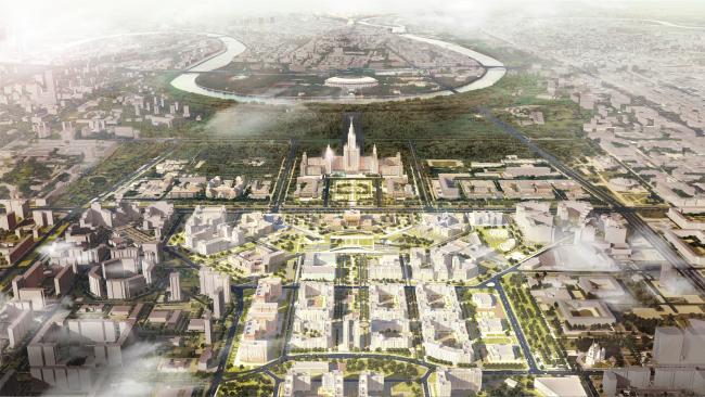 Мастер-план научно-технологической долины МГУ © RTDA при участии НИИПИ Генплана Москвы