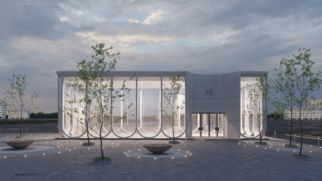 Проект станции метро «Кленовый бульвар».    © IND architects