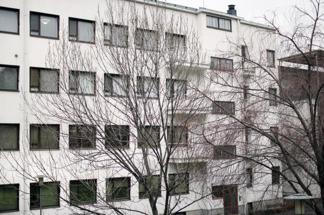 Дворовый фасад. Здание посольства Финляндии в Москве. Хилдинг Экелунд, 1935-1938. Фотография: Архи.ру