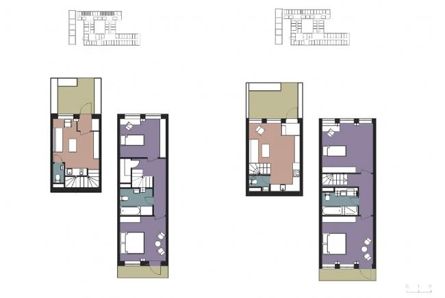 Двухуровневые апартаменты. CO_Loft © DNK ag