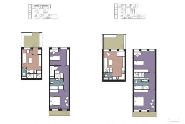 The two-level apartments CO_Loft © DNK ag
