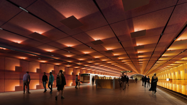 Станция метро «Форнебюпортен». Изображение © VA