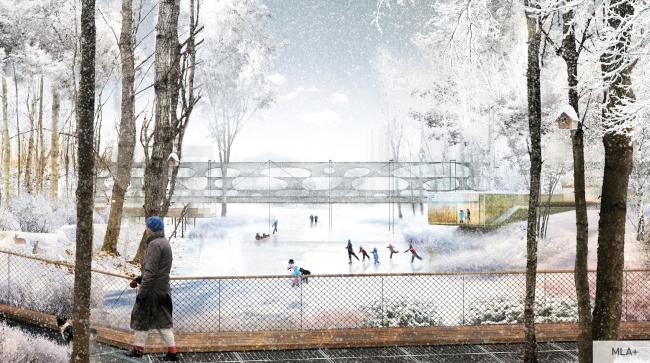 Концепция общественных пространств ЖК «Скандинавия». Предоставлено ГК А101