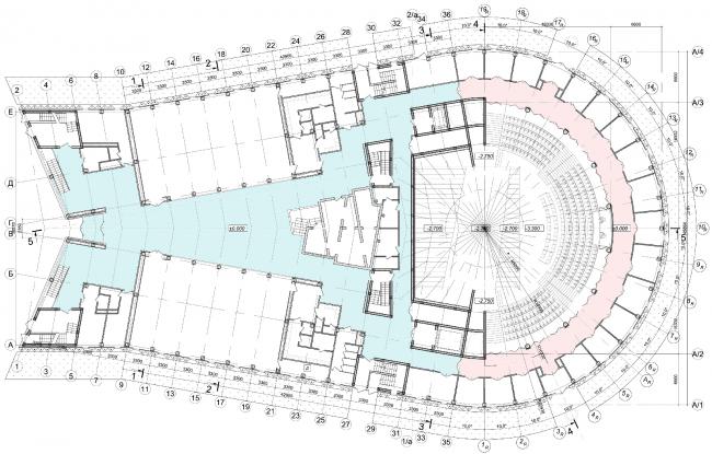 Образовательный центр для одаренных детей «Сириус». Корпус «Искусство». План на отм. +0,000  © Студия 44