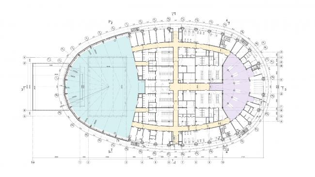 Образовательный центр для одаренных детей «Сириус». Корпус «Спорт». План на отм. +0,000 © Студия 44