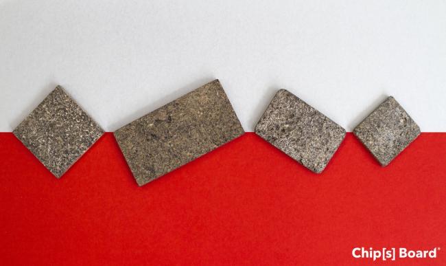 Образец материала Chip[s] Board, Фотография с сайта chipsboard.com