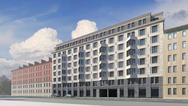 The residential complex Futurist. The Barochnaya Street © Evgeny Gerasimov and Partners